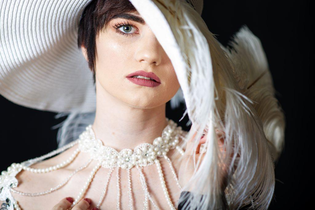Portrait of Woman in church hat