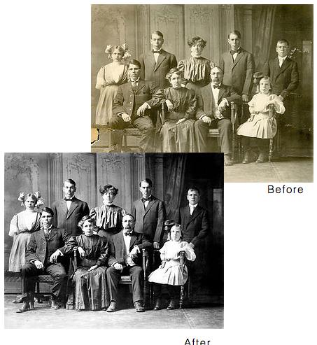 Family photo restored